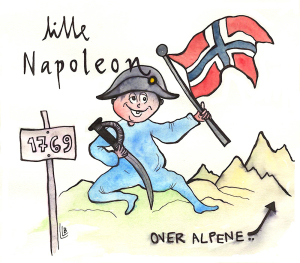 Napoleon over Alpene i 1769.