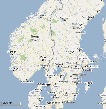 kart over sverige og danmark Målestokk kart over sverige og danmark
