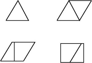 Areal av likesidet trekant