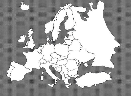 europa kart uten navn Julekalender 2007, 5. 7. trinn europa kart uten navn